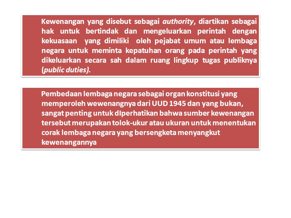 """. Pasal 1 ayat (1) UUD 1945 """" Negara Indonesia ialah Negara Kesatuan yang berbentuk Republik"""" Dalam negara kesatuan, kekuasaan negara terbagi antara p"""