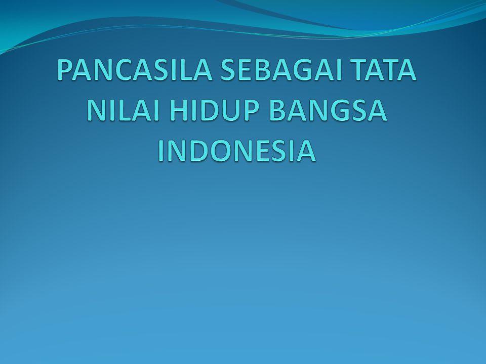 Persatuan indonesia (nilai persatuan)  Persatuan indonsia adalah persatuan bangsa yg mendiami wilyah indonesia  Bangsa idonesia adlah persatuan suku-suku bangsa yg mendiami wilyah indonesia  Pengakuan terhadap ke-Bhineka Tunggal Ika-an  Nilai sila III dijiwai sila I dan II, meliputi dan menjiwai sila IV dan V