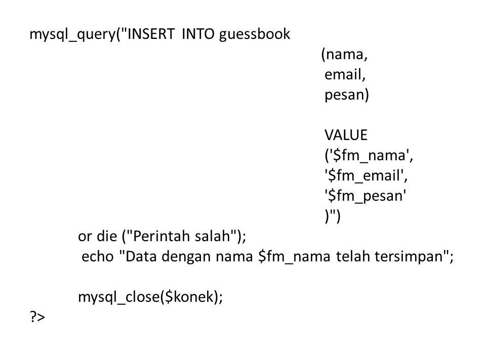 mysql_query(