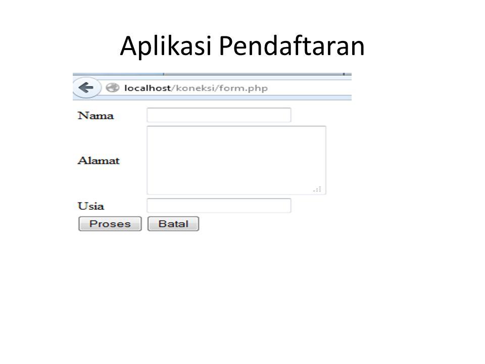 Aplikasi Pendaftaran