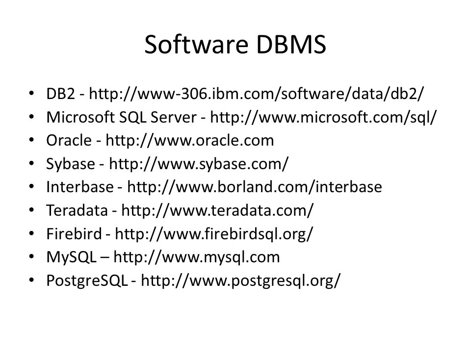 MySQL • MySQL adalah sebuah perangkat lunak sistem manajemen basis data SQL (bahasa Inggris: database management system) atau DBMS yang multithread, multi-user, dengan sekitar 6 juta instalasi di seluruh dunia.