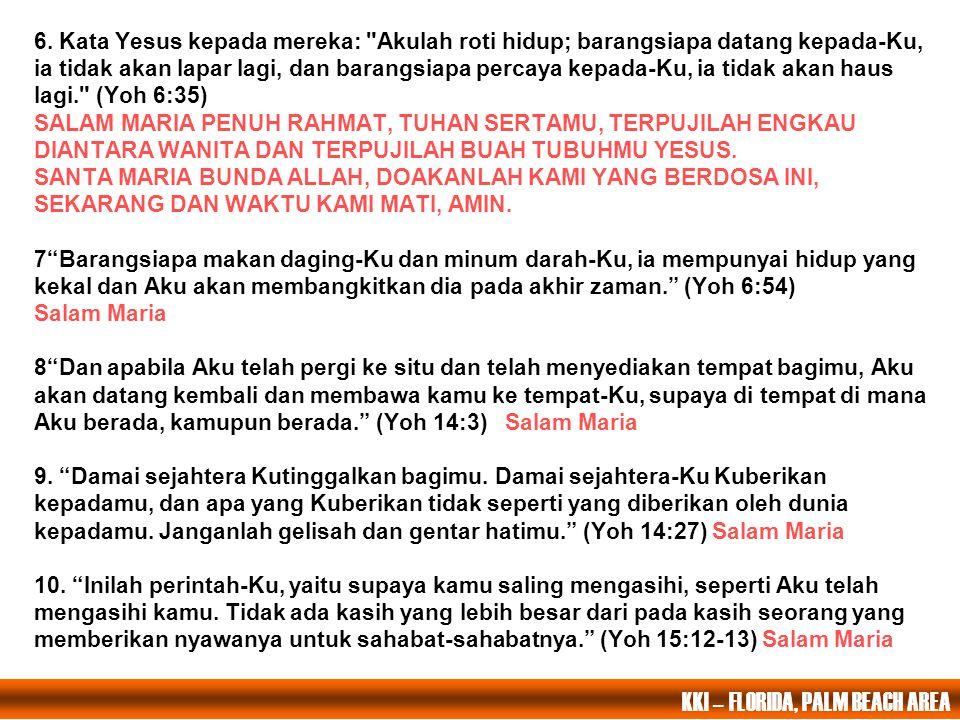 1. Setelah hari malam, Yesus duduk makan bersama-sama dengan kedua belas murid itu. Dan ketika mereka sedang makan, Ia berkata: