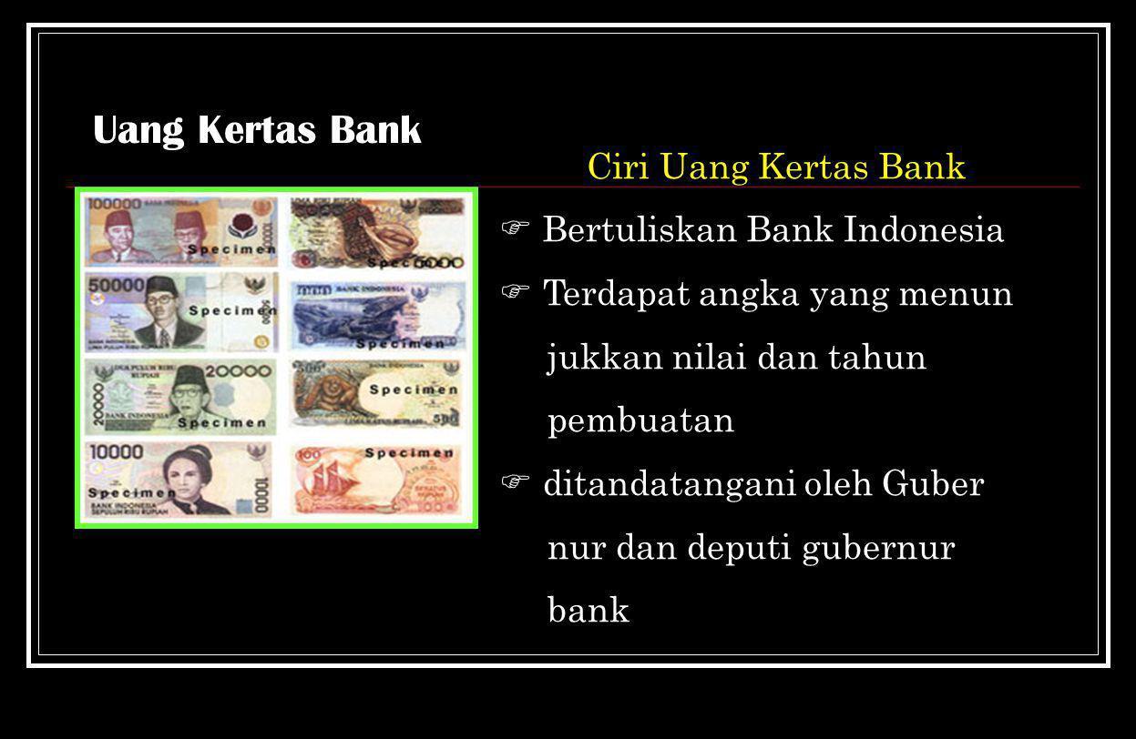 Uang Bank Uang kertasUang Logam
