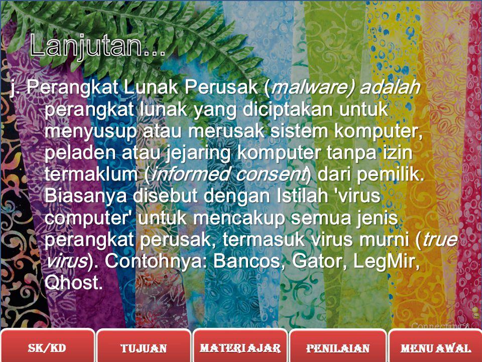 I. Perangkat Lunak Uji Coba atau perangkat lunak Kongsi (Shareware) adalah perangkat lunak yang berpemilik yang disediakan untuk pengguna tanpa membay