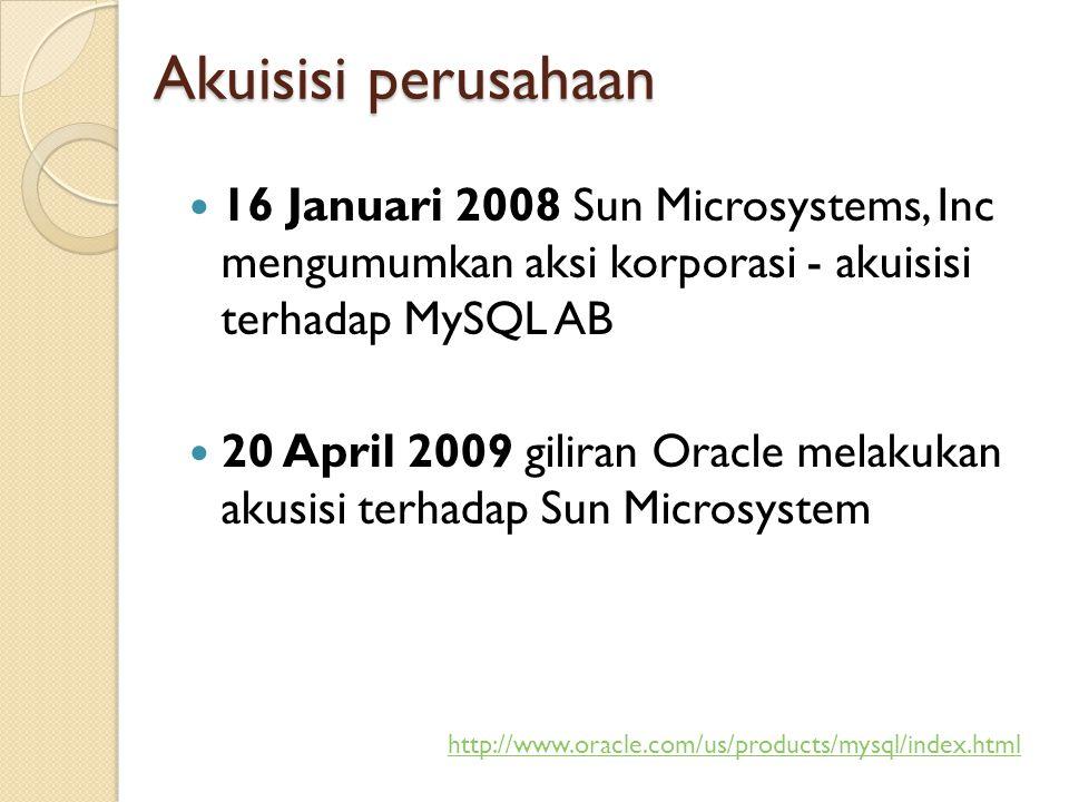 Komunitas MySQL Indonesia http://groups.google.com/group/mysql- indonesia