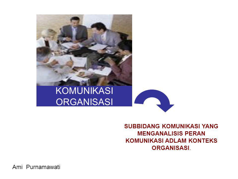 KOMUNIKASI ORGANISASI PERTEMUAN KE-6 Ami Purnamawati