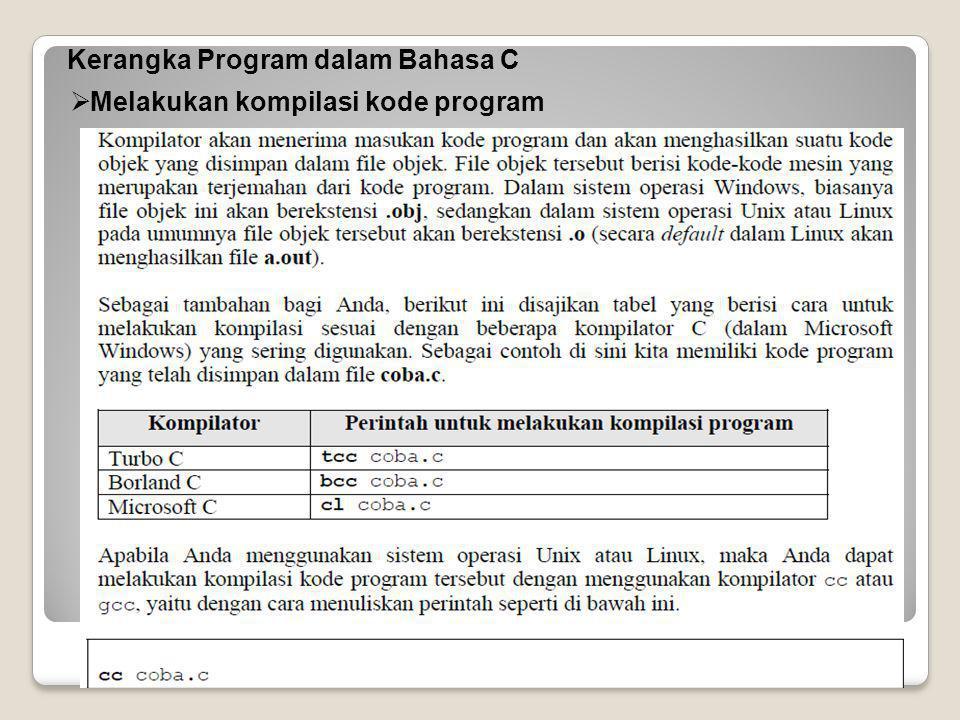  Melakukan kompilasi kode program
