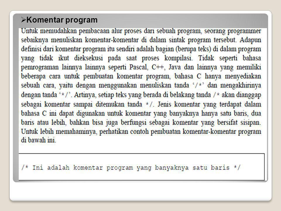  Komentar program
