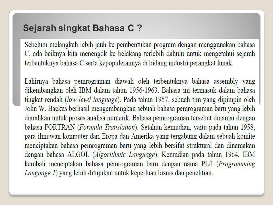 Sejarah singkat Bahasa C ?
