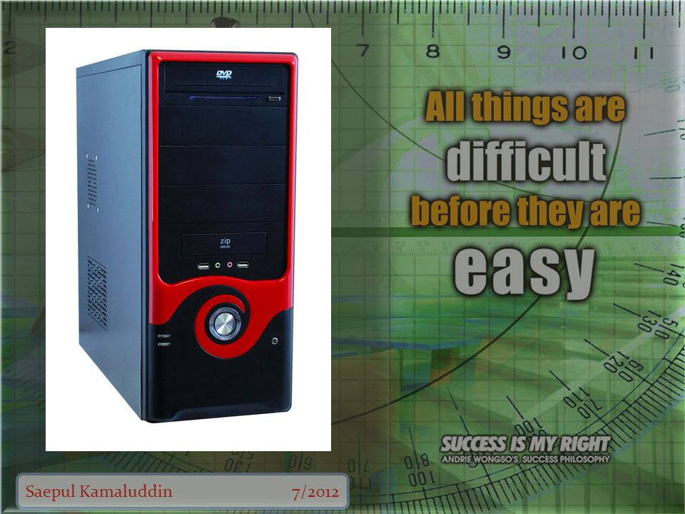 Saepul Kamaluddin7/2012 Nama perangkat Fan (Kipas) Fungsi Untuk mendinginkan suhu sistem komputer.