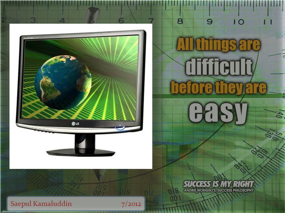 Saepul Kamaluddin7/2012 Nama perangkat Hard Disk Fungsi Sebagai tempat penyimpanan data.