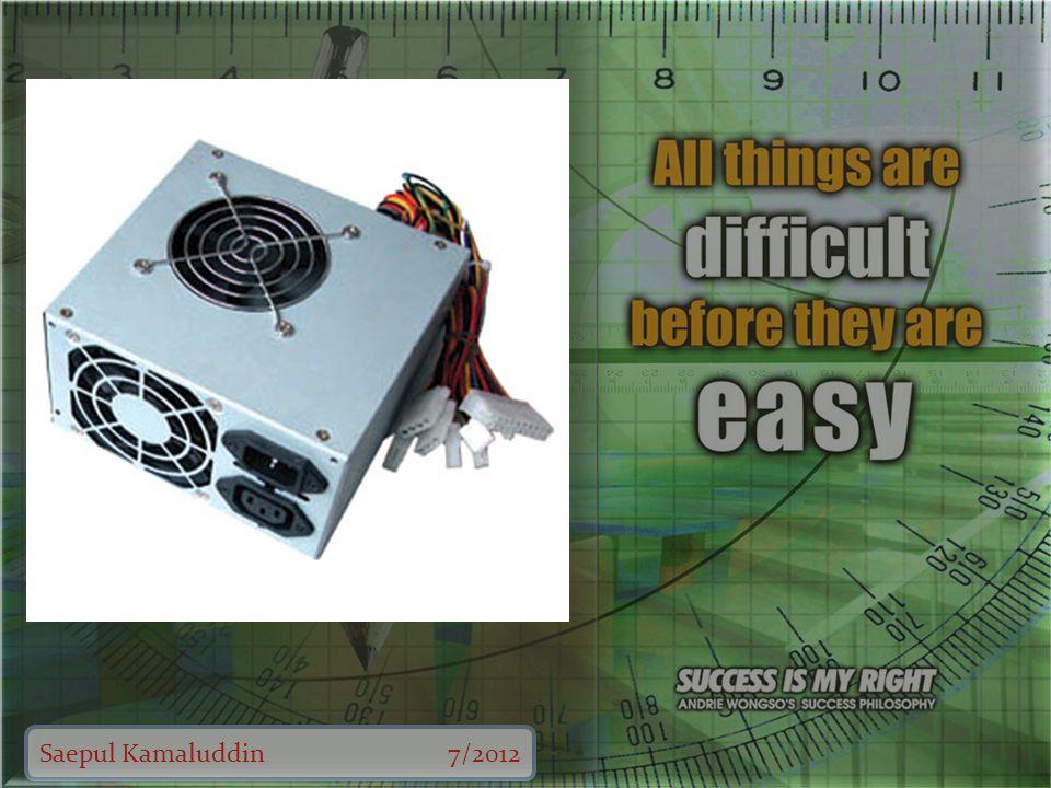 Saepul Kamaluddin7/2012 Nama perangkat VGA Card Fungsi 1.Untuk memproses segala yang berhubungan dengan grafis atau tampilan.