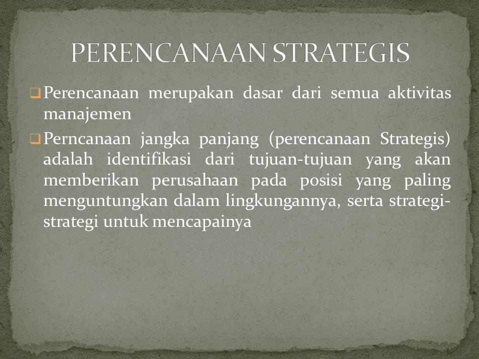  Tanggung jawab perencanaan strategis biasanya dipegang oleh suatu Komite Eksekutif dalam perusahaan.