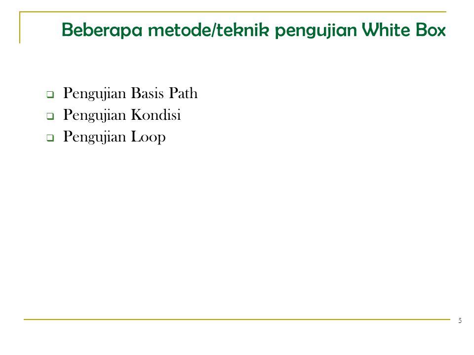 1. Pengujian Basis Path 6