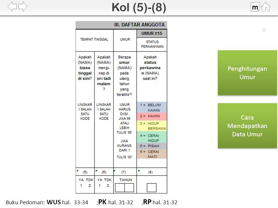 SDKI 2012 m Buku Pedoman: WUS hal. 33-34 ; PK hal.