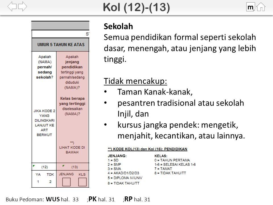 m Buku Pedoman: WUS hal. 33 ; PK hal. 31 ; RP hal.