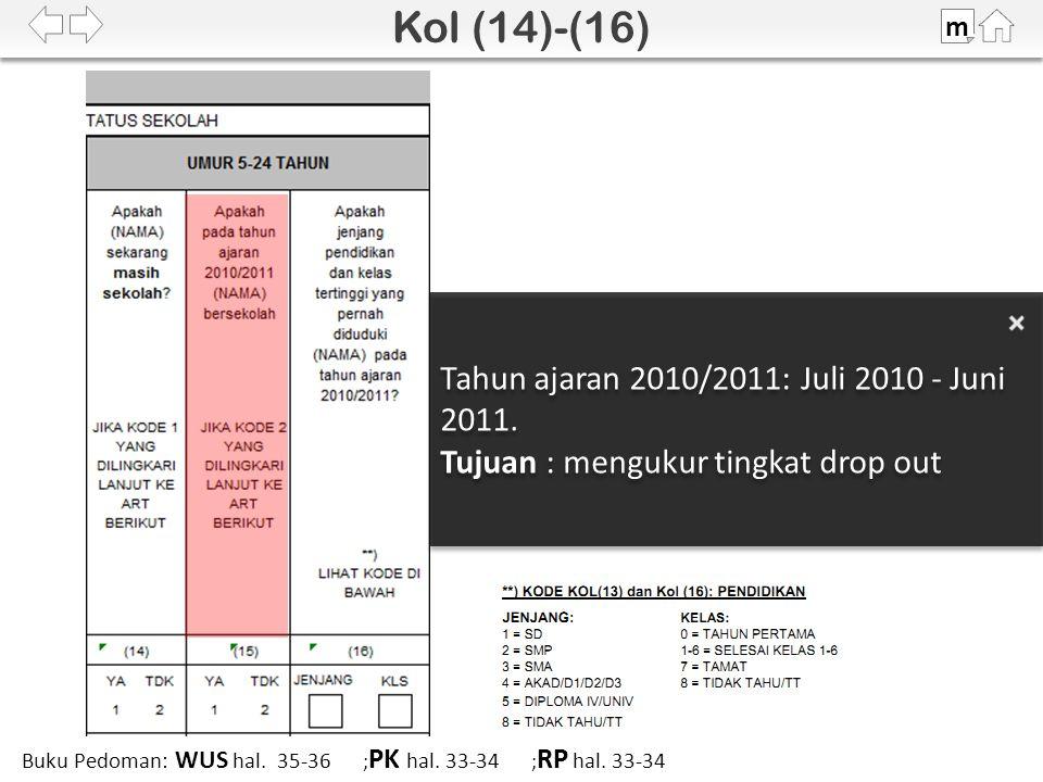 Tahun ajaran 2010/2011: Juli 2010 - Juni 2011.