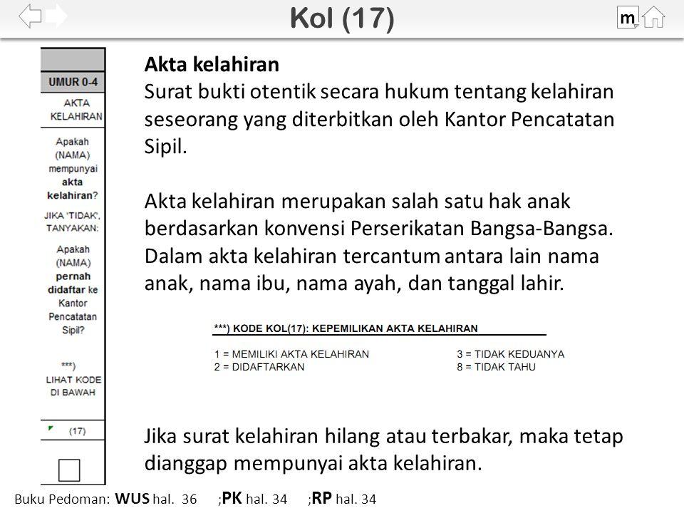 100% m Buku Pedoman: WUS hal. 36 ; PK hal. 34 ; RP hal.