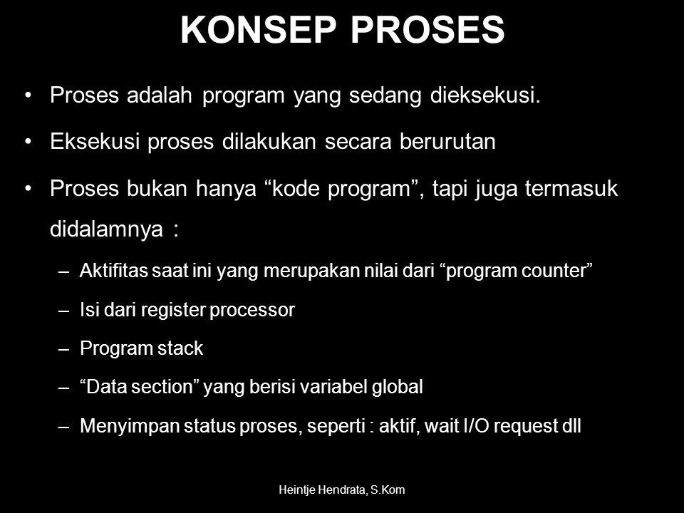 •Proses adalah program yang sedang dieksekusi.