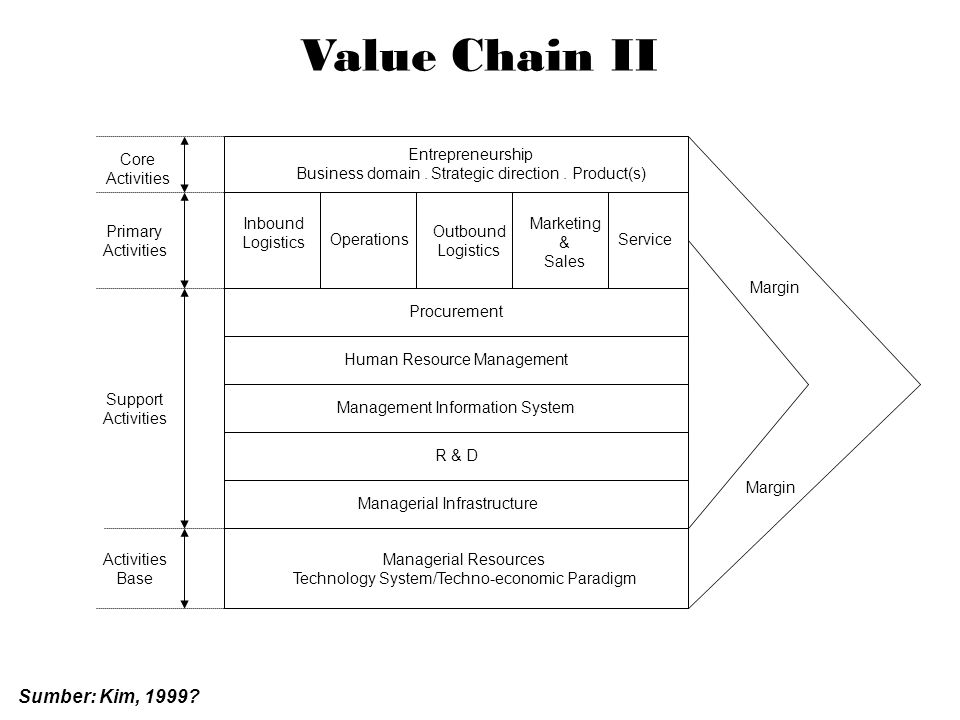 Value Chain II Core Activities Entrepreneurship Business domain.