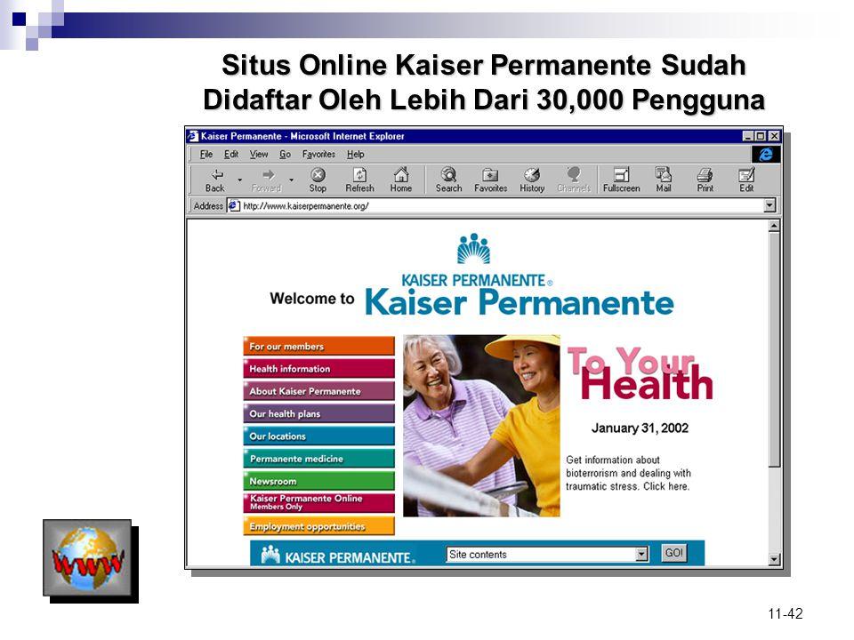 11-42 Situs Online Kaiser Permanente Sudah Didaftar Oleh Lebih Dari 30,000 Pengguna