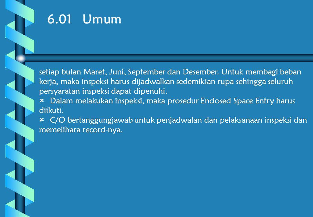6.01 Umum setiap bulan Maret, Juni, September dan Desember.