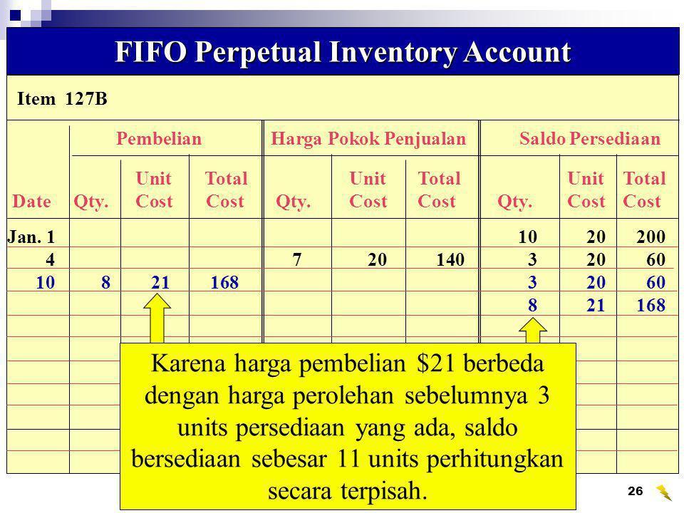 Wahyumi Ekawanti, MSi27 Data Biaya Persediaan untuk mengilustrasikan FIFO and LIFO Perpetual Systems Data Biaya Persediaan untuk mengilustrasikan FIFO and LIFO Perpetual Systems Cost of Mdse.