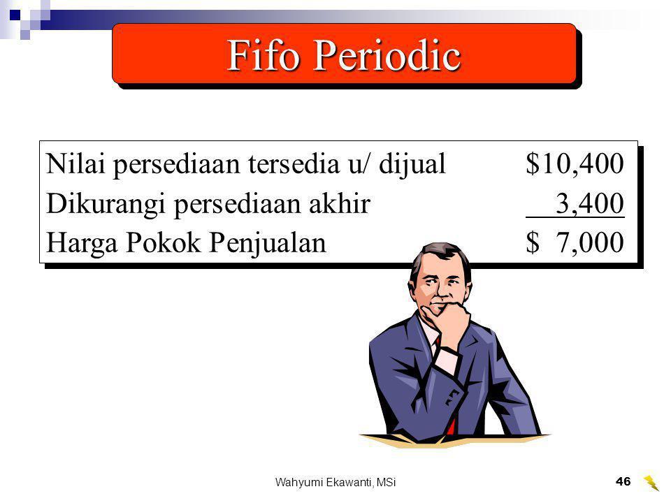 Wahyumi Ekawanti, MSi47 Jan.1 200 units at $9 Summary of Fifo Periodic Mar.