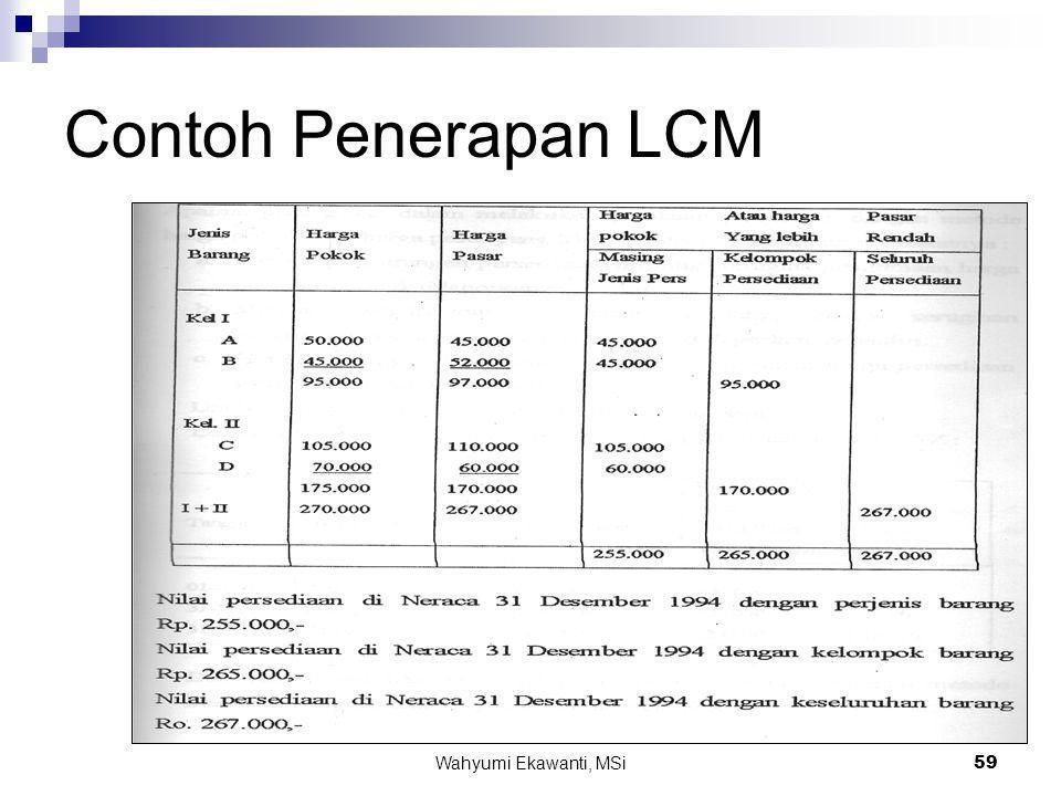 Wahyumi Ekawanti, MSi59 Contoh Penerapan LCM