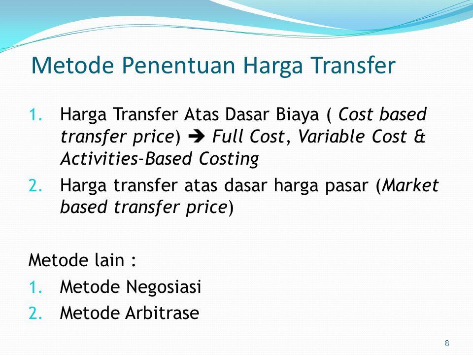 8 Metode Penentuan Harga Transfer 1.