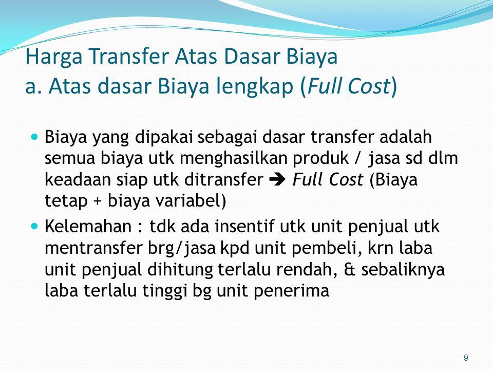 9 Harga Transfer Atas Dasar Biaya a.