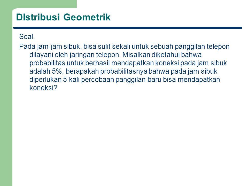 DIstribusi Geometrik Soal.