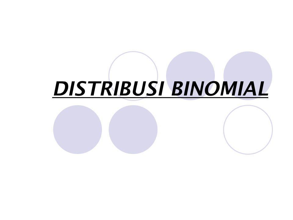  Untuk mempermudah perumusan distribusi binomial, kita pakai percobaan pelemparan sebuah uang logam sebanyak 3 kali (n=3).
