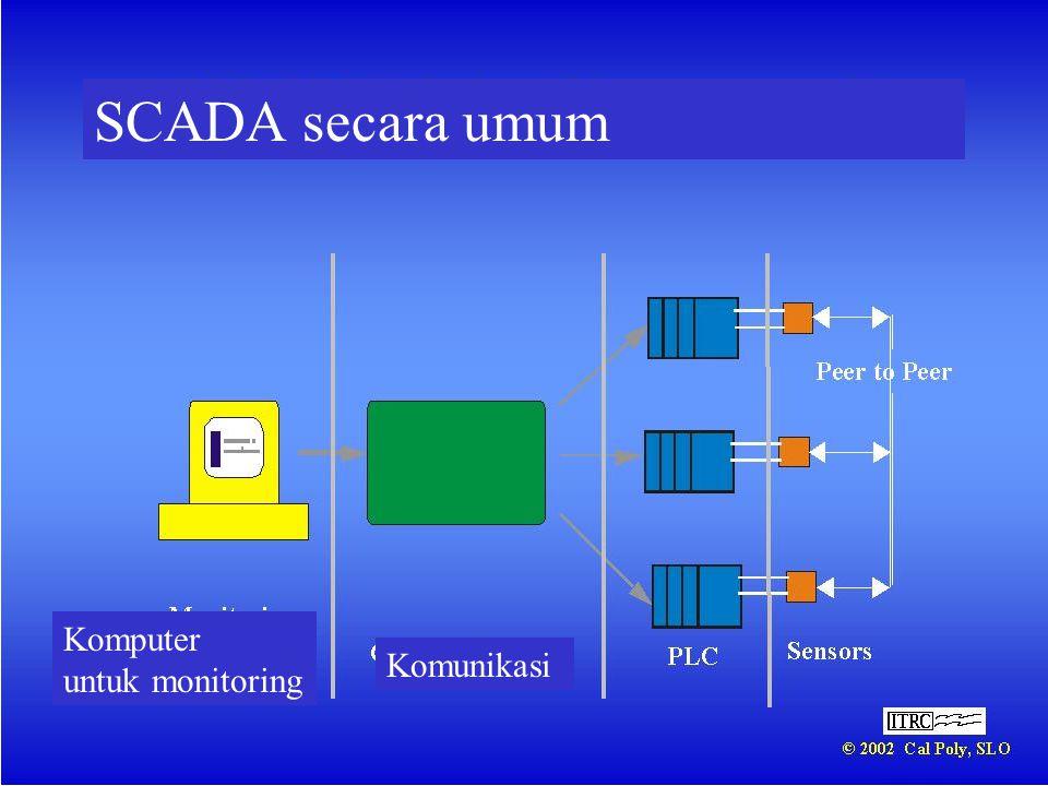 SCADA secara umum Komputer untuk monitoring Komunikasi