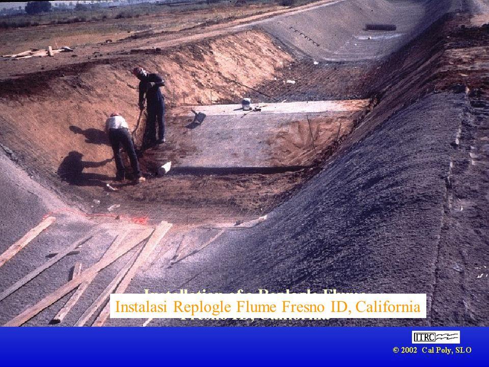 Insatalsi Replogle Flume yang lebih besar, Merced ID, California