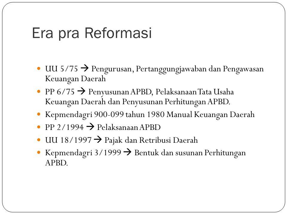 Dasar Hukum Keuangan Daerah  Reformasi dan otonomi daerah telah mengubah hubungan pemerintah pusat dan daerah  Otonomi membutuhkan pertanggungjawaban