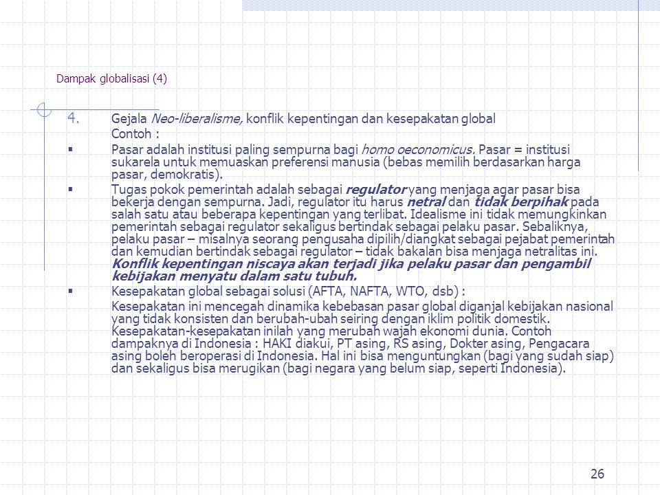 25 Dampak globalisasi (4) 3.