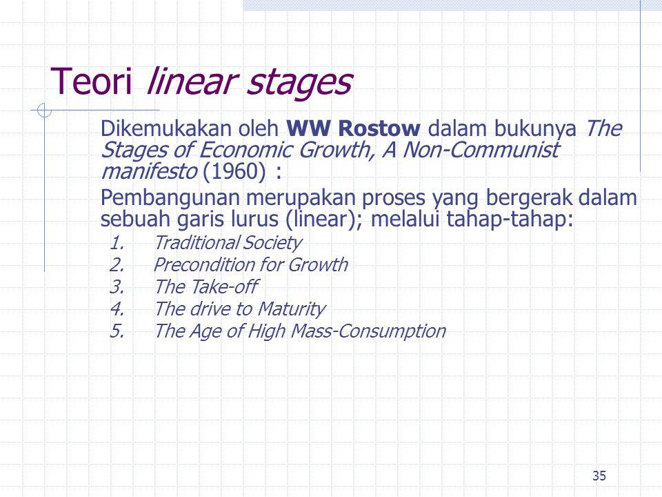 34 Tesis Ketergantungan dan Keterbelakangan (3) Pendekatan International Structuralist : ‐ Adalah salah satu cara pandang untuk menganalisis ketergant