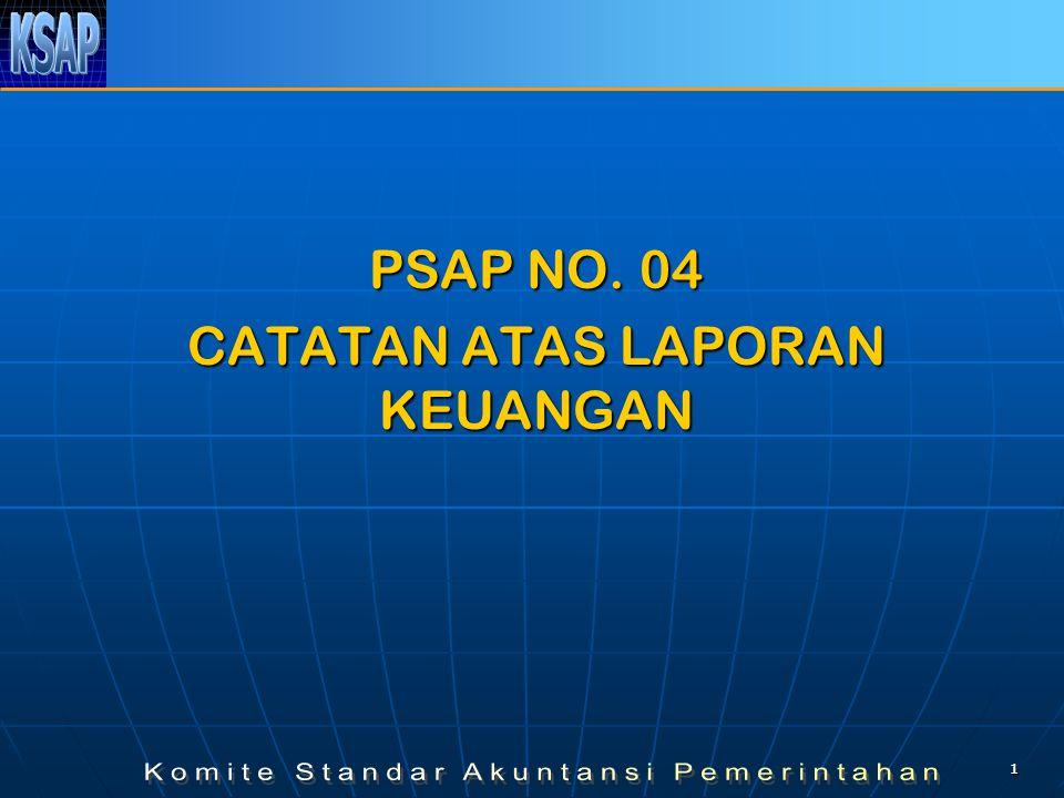 11 PSAP NO. 04 CATATAN ATAS LAPORAN KEUANGAN