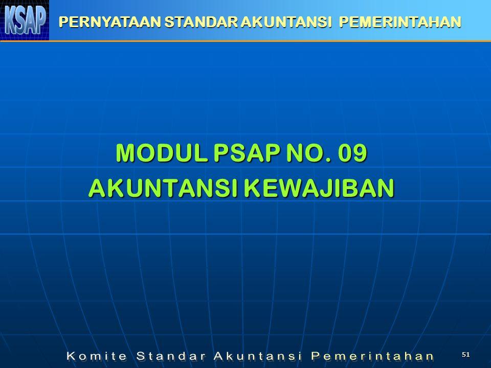 5151 MODUL PSAP NO. 09 AKUNTANSI KEWAJIBAN PERNYATAAN STANDAR AKUNTANSI PEMERINTAHAN