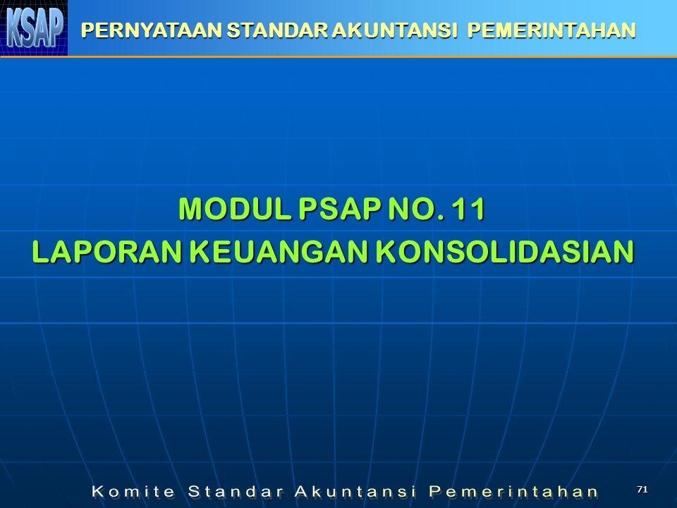 7171 MODUL PSAP NO. 11 LAPORAN KEUANGAN KONSOLIDASIAN PERNYATAAN STANDAR AKUNTANSI PEMERINTAHAN