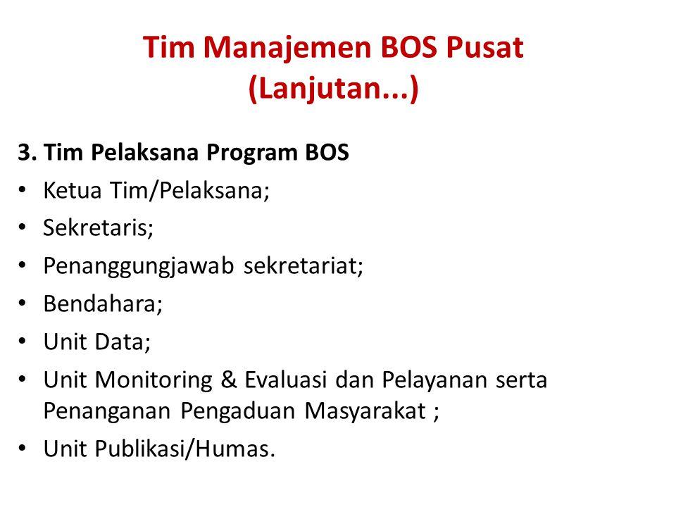 Tim Manajemen BOS Pusat (Lanjutan...) 3.
