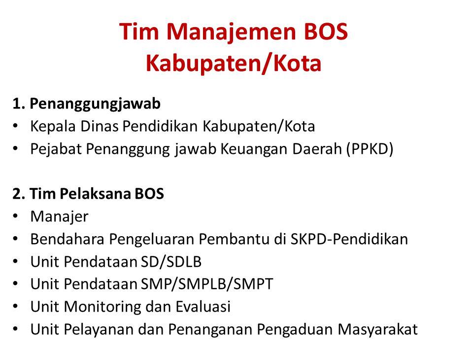 Tim Manajemen BOS Kabupaten/Kota 1.