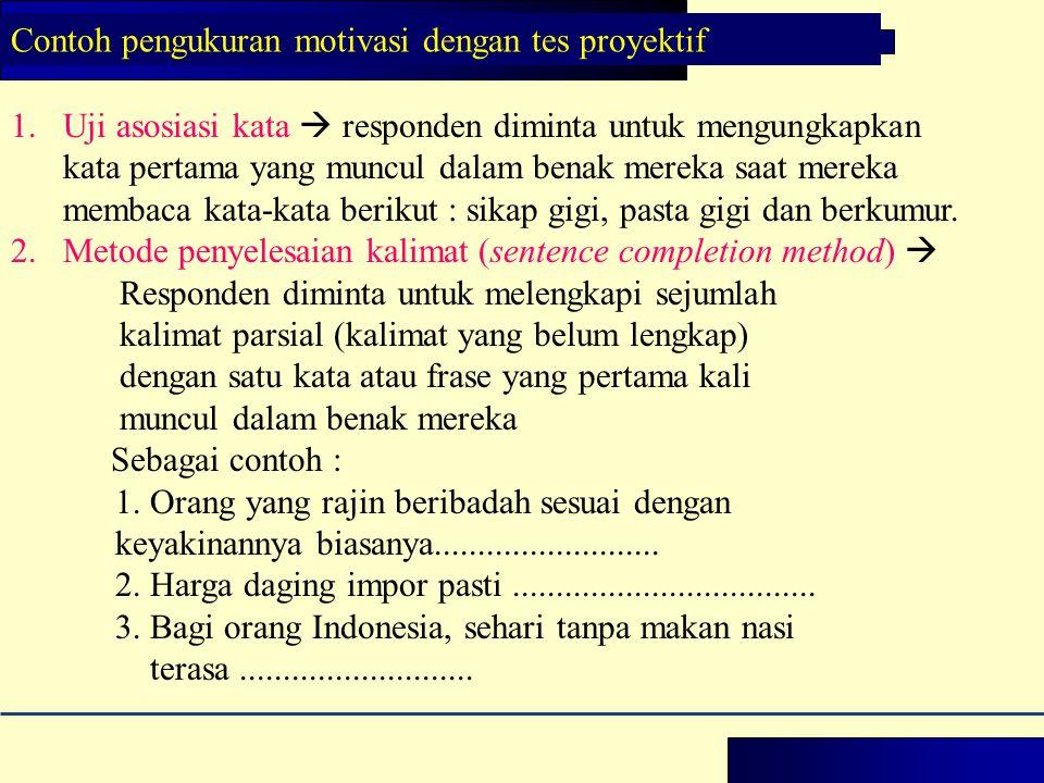 1.Uji asosiasi kata  responden diminta untuk mengungkapkan kata pertama yang muncul dalam benak mereka saat mereka membaca kata-kata berikut : sikap