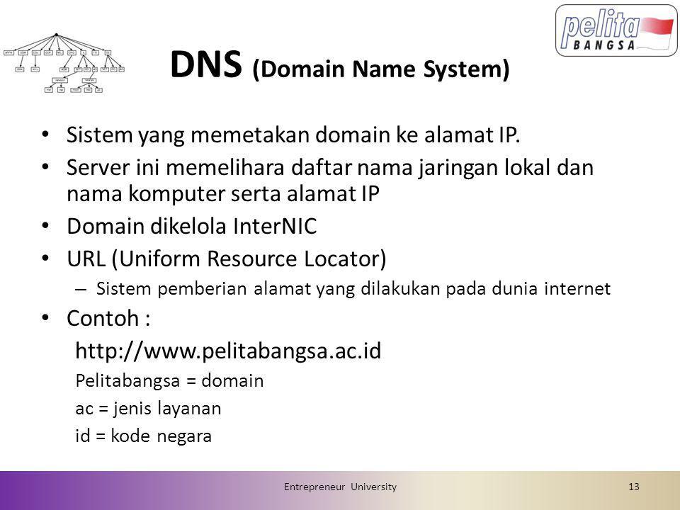 DNS (Domain Name System) • Sistem yang memetakan domain ke alamat IP.
