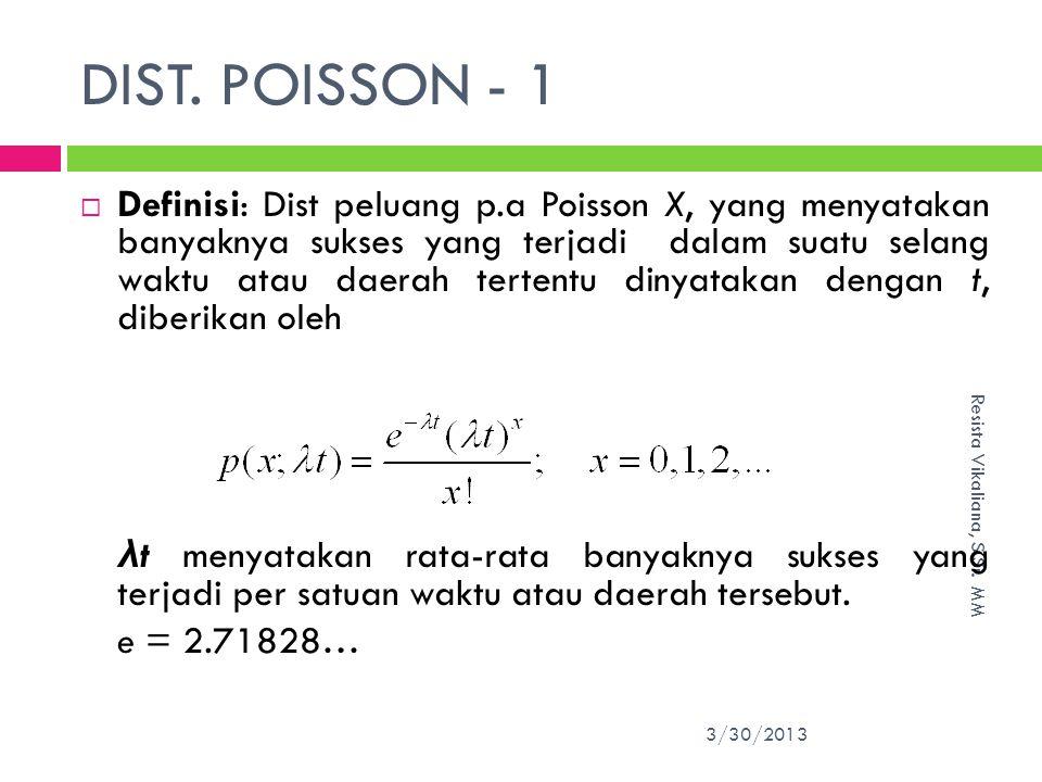 DIST.POISSON - 1 3/30/2013 Resista Vikaliana, S.Si.
