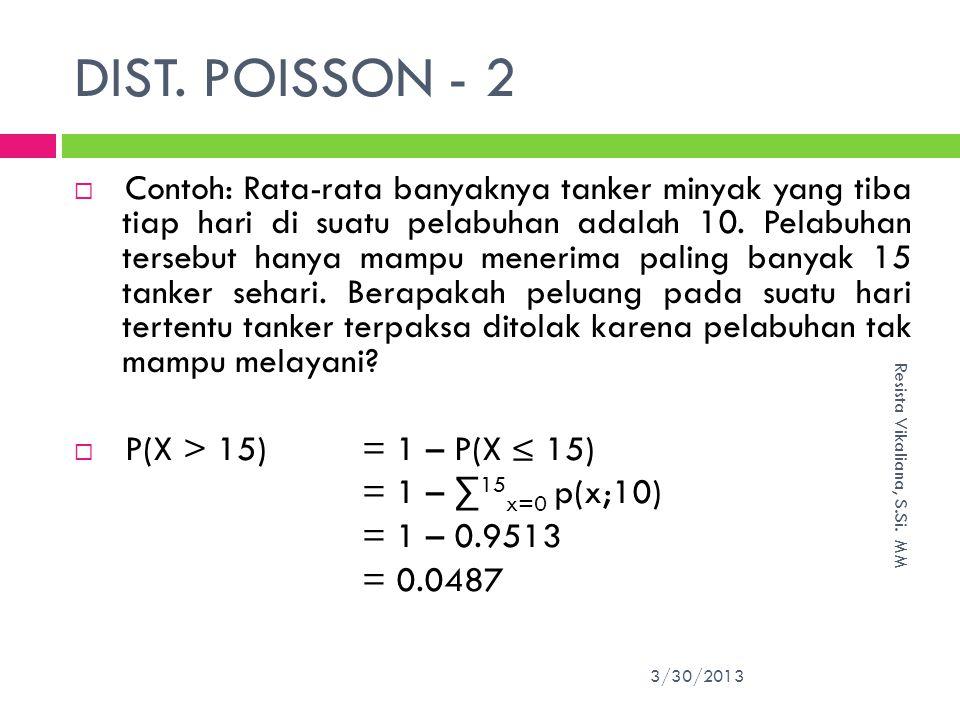 DIST.POISSON - 2 3/30/2013 Resista Vikaliana, S.Si.