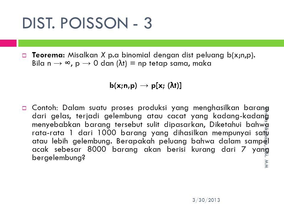 DIST.POISSON - 3 3/30/2013 Resista Vikaliana, S.Si.