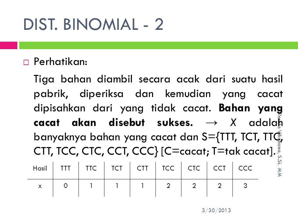 DIST.BINOMIAL - 2 3/30/2013 Resista Vikaliana, S.Si.