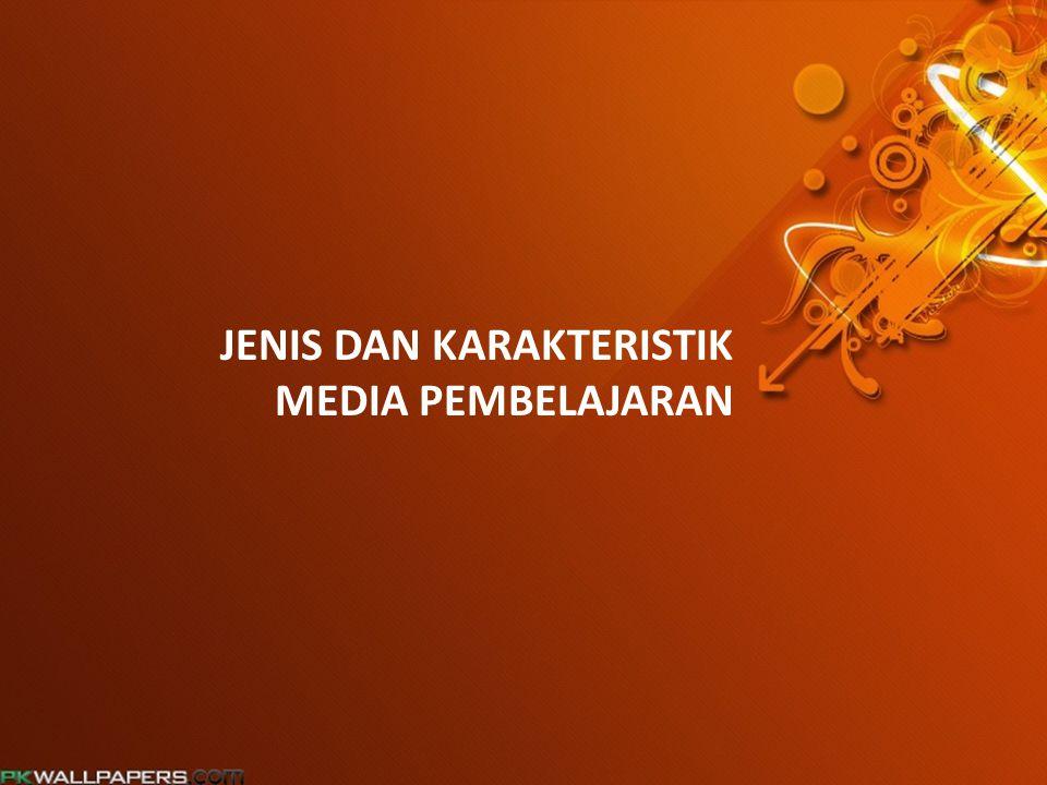 JENIS MEDIA PEMBELAJARAN CETAK TRANSPARANSI AUDIO SLIDE SUARA VIDEO MULTIMEDIA INTERAKTIF E-LEARNING
